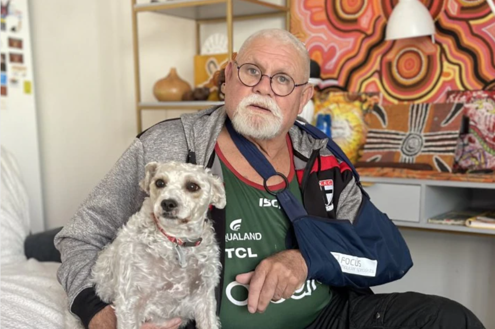 Former St Kilda star Robert Muir recovering well from life-changing shoulder surgery
